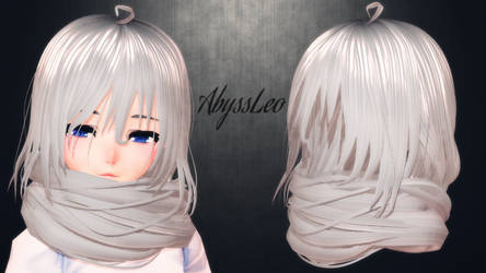 [MMD] This hair is a FREE DL? WTF with a scarf ?