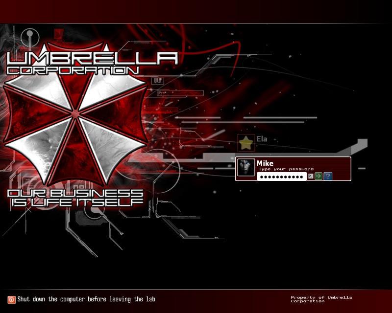 Umbrella Corporation logon by DarkDrows