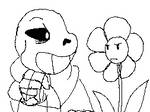 Insults Sans vs. Flowey (GIF)