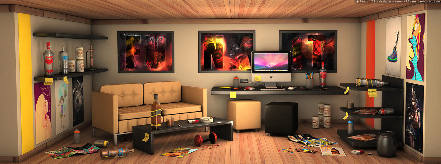 Designer 39 s room by k3nzus on deviantart for Room design maker