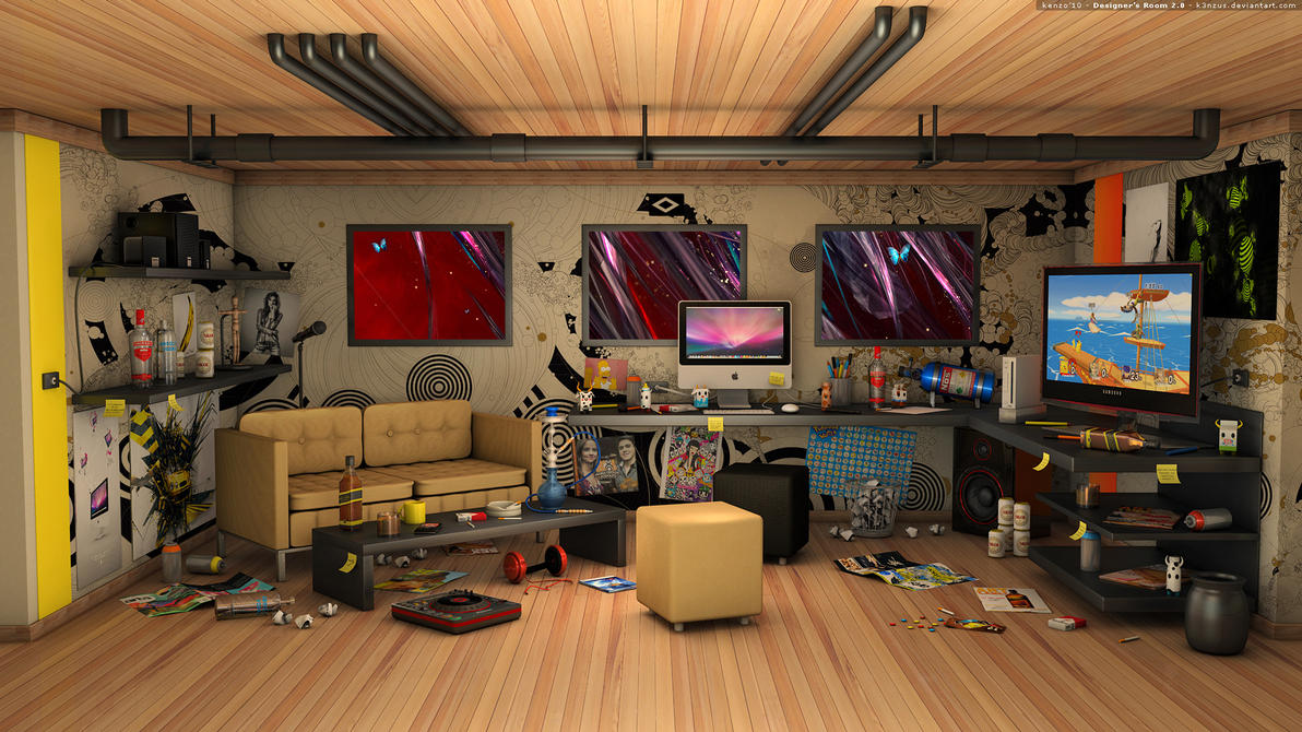 Designer 39 s room 2 0 by k3nzus on deviantart - Designers bedrooms ...