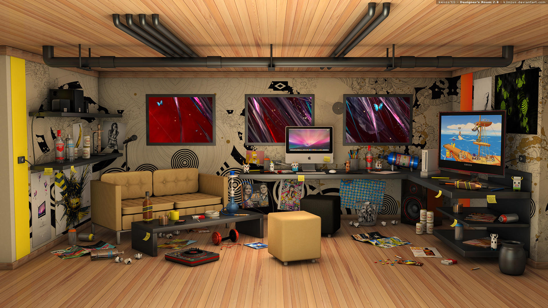 Designer s Room 2 0 by K3nzuS. Designer s Room by K3nzuS on DeviantArt