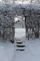 Garden entrance in winter by MariaLoikkii