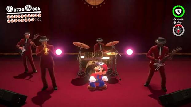 Mario dances to his own theme