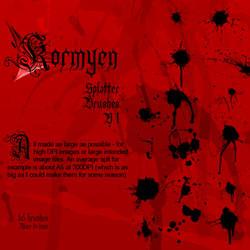 KormyenSplatterBrushesV1 by kormyen