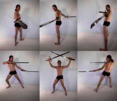Dual Swords Warrior Stock Pack 1 - HQ by MD-Arts