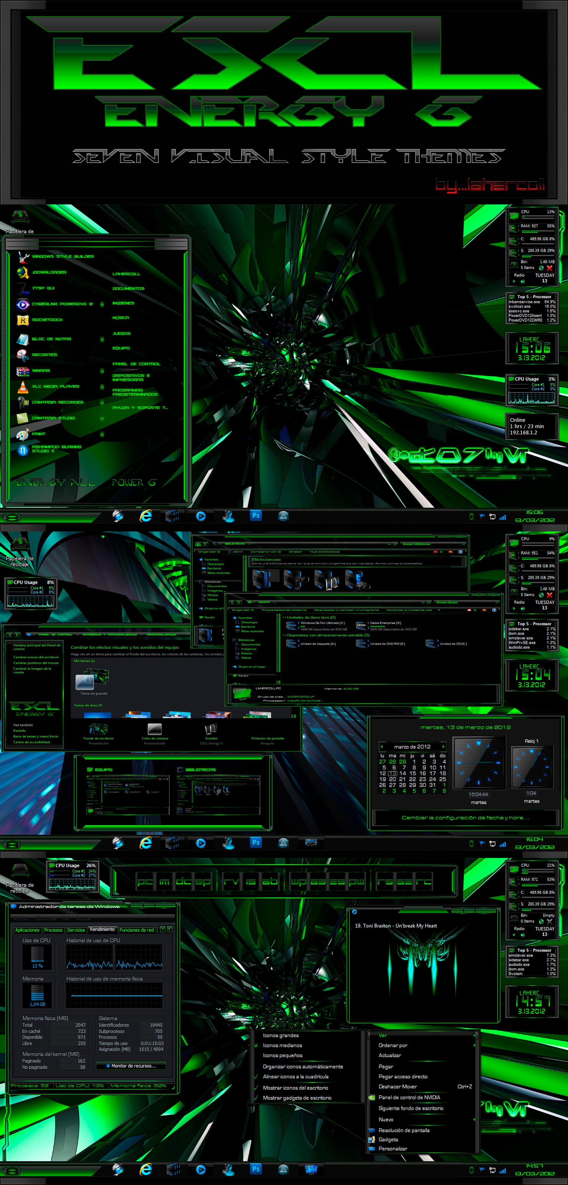 ESCL Energy G_Green Se7en Visual Style by lahercoll