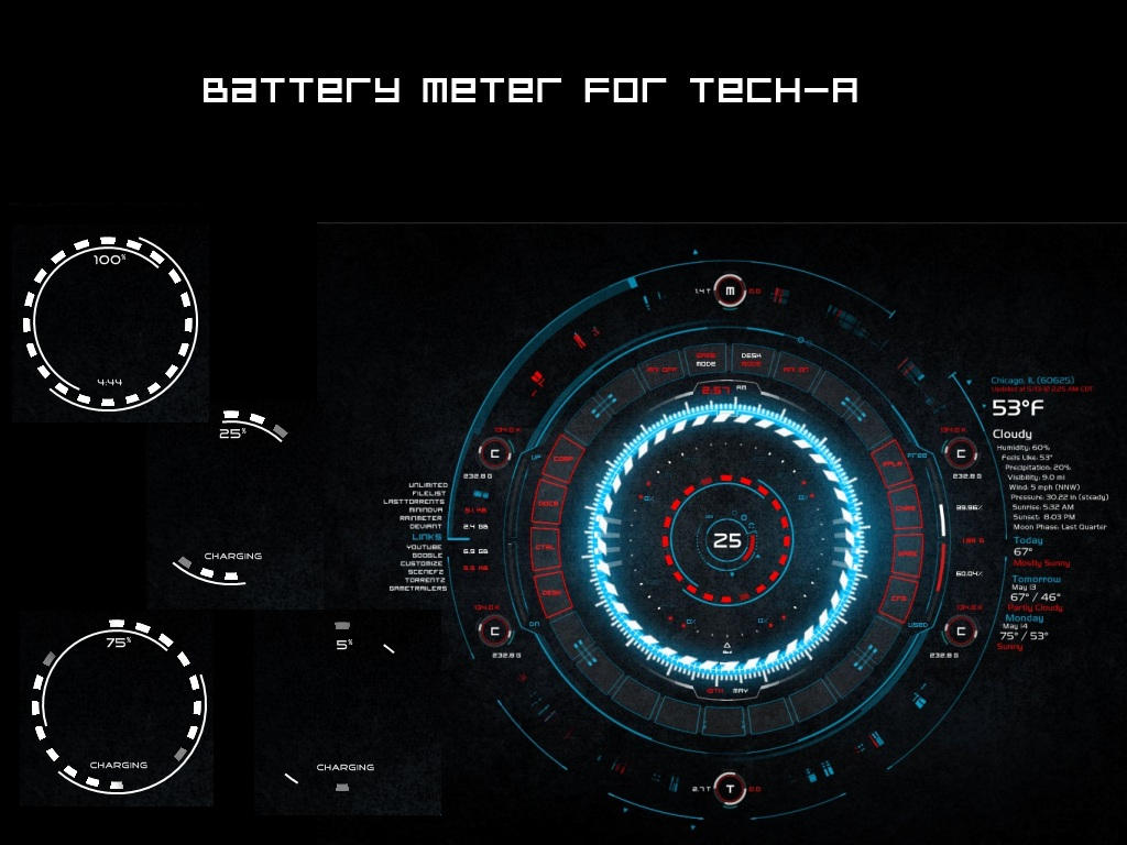 Battery Meter for TECH-A by pointed-arrow