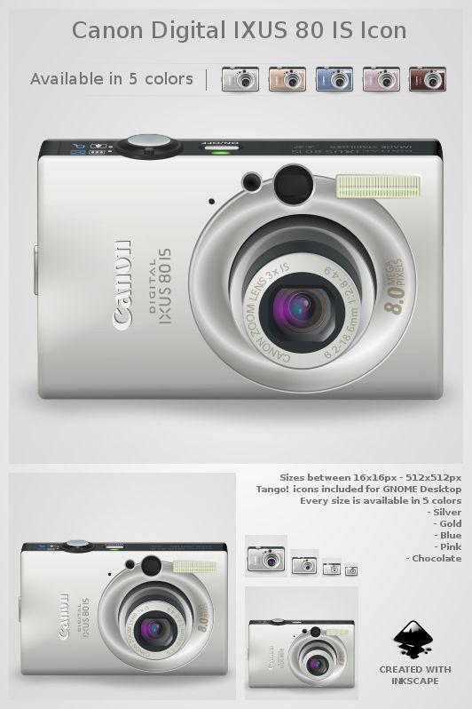 Canon Digital IXUS 80 IS icon