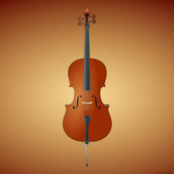 Cello in vector