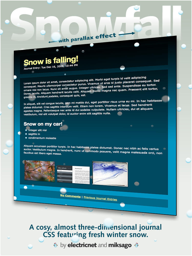 Snowfall by electricnet
