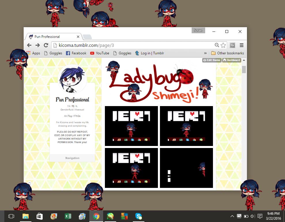 Miraculous Ladybug: Marinette Shimeji *Download*