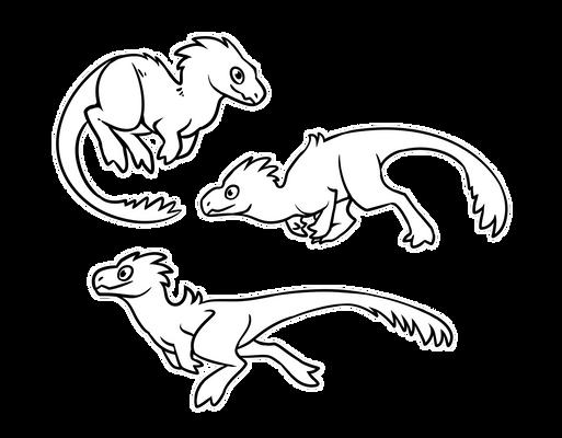 [F2U] Chibi Theropods