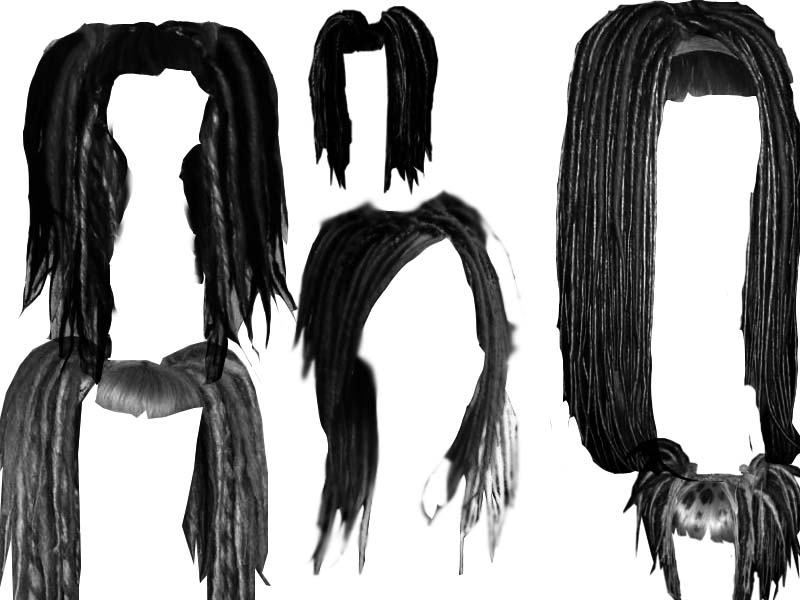 Dreadlock hair style brushes