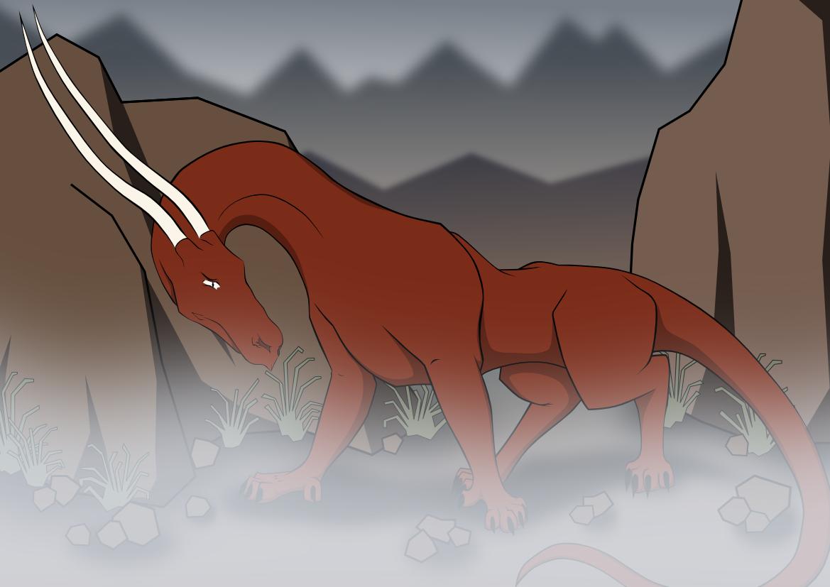 doodle dragon coloured + mist by panzi