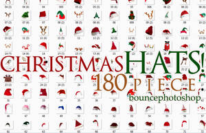 Christmas Hats 180 piece-Bouncephotoshop