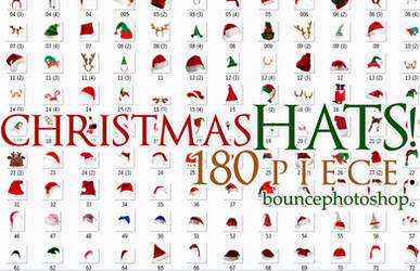 Christmas Hats 180 piece-Bouncephotoshop