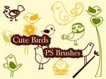Cute Birds Photoshop Brushes