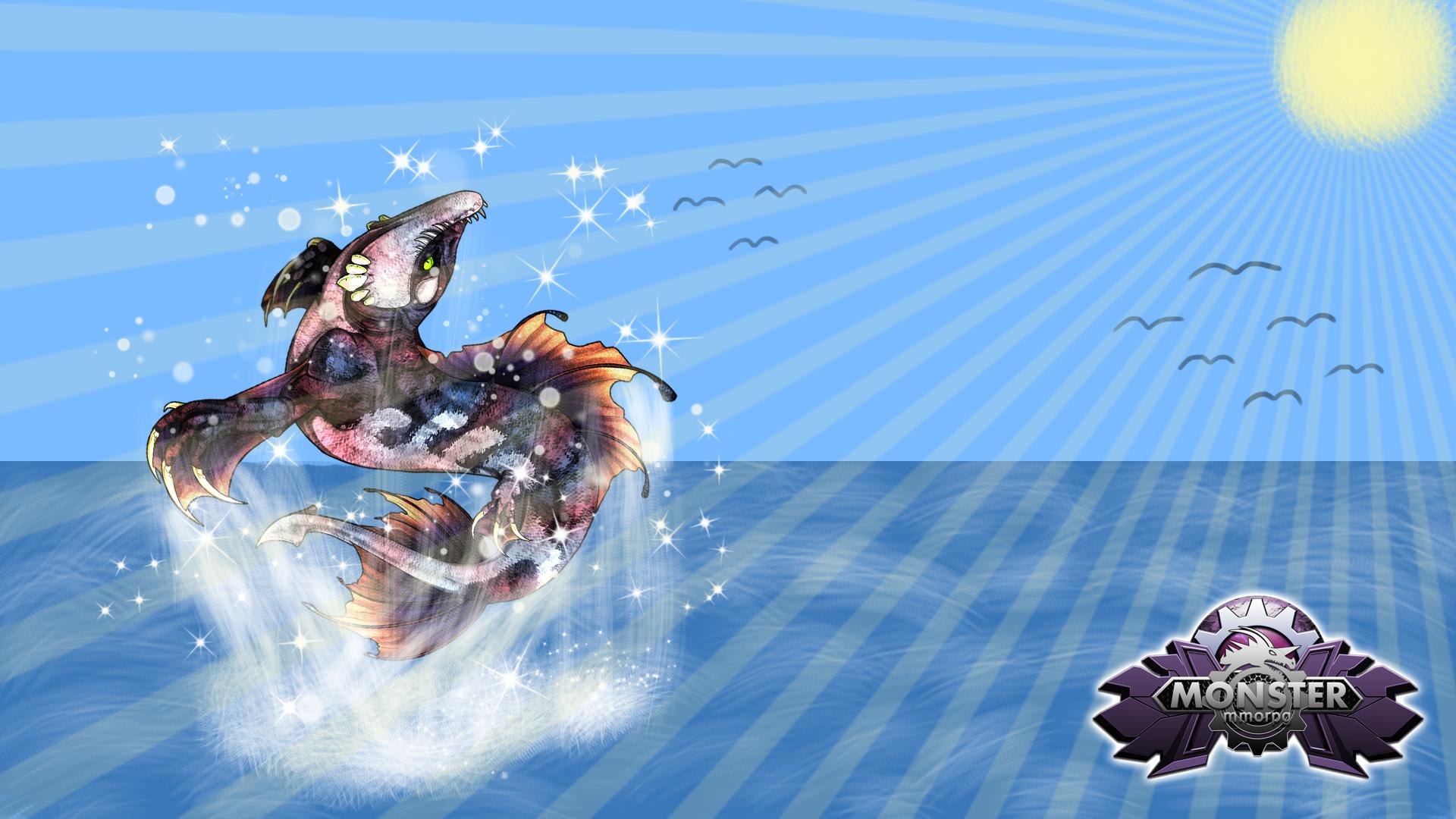 MonsterMMORPG WallPaper [#32 Sarcuda] / PSD File