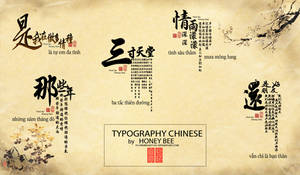TYPOGRAPHY CHINESES by Honey Bee (Flowerroad1501) by FlowerRoad1501