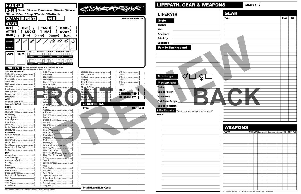 Cyberpunk 2020 Character Sheet by darthhell