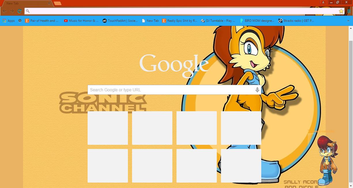 Google chrome themes universe - Sally Acorn Chrome Theme By Zakdereff