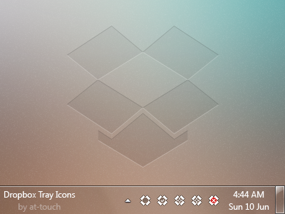Dropbox tray icons by at-touch