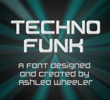 Techno Funk font by ashzstock