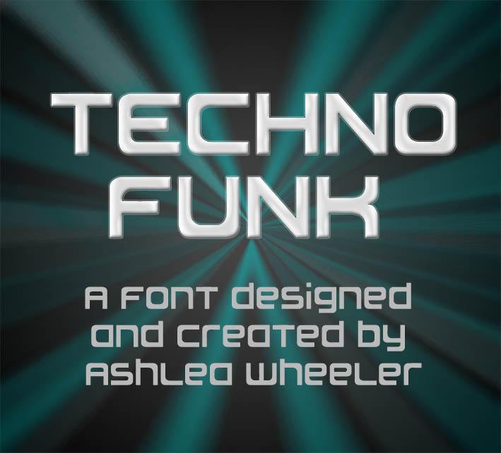 Techno Funk font