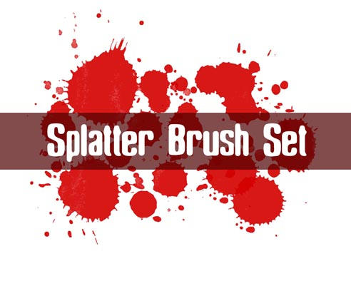 Splatter Brush Set by ashzstock