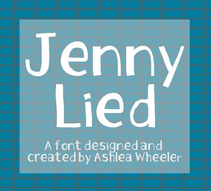 Jenny Lied Font by ashzstock