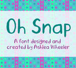 Oh Snap - font