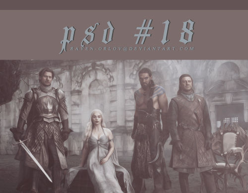 Game of Thrones Coloring - PSD 18