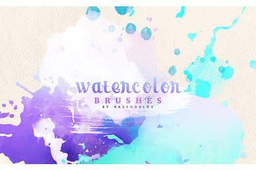 Brush Pack #1 - Watercolor Brushes by RavenOrlov