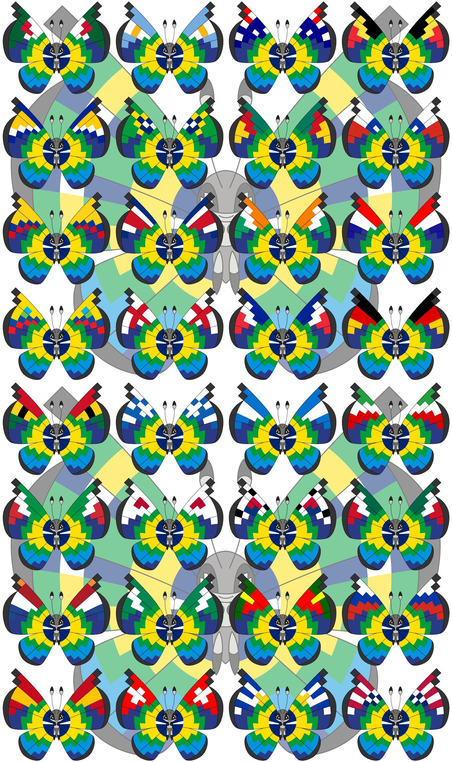 Vivillon - 2014 FIFA World Cup Brazil - Version 2