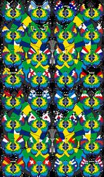 Vivillon - 2014 FIFA World Cup Brazil - Version 2 by Starfighter-Suicune