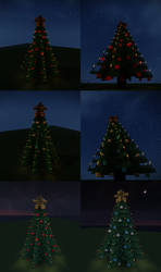 Minecraft Christmas Trees Schematics by Starfighter-Suicune