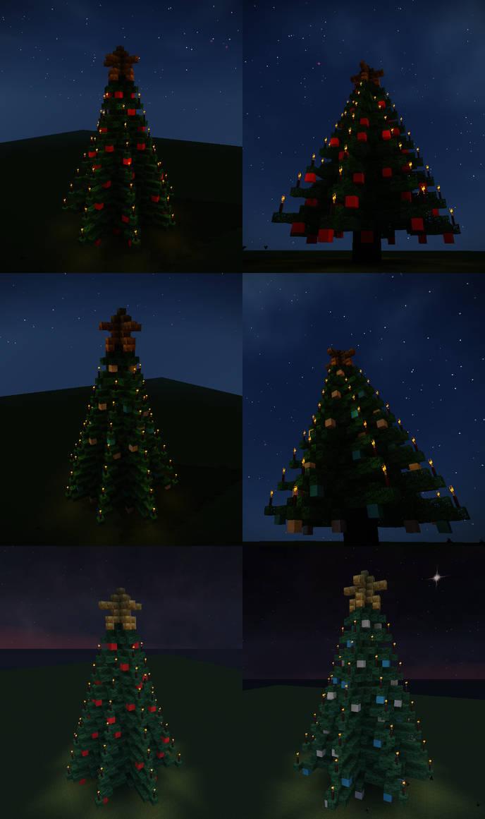 Minecraft Christmas Trees Schematics By Starfighter Suicune On