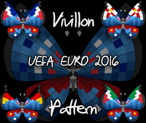 Vivillon UEFA Euro 2016 pattern by Starfighter-Suicune