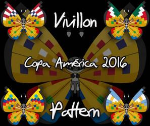 Vivillon Copa America 2016 pattern (Request) by Starfighter-Suicune