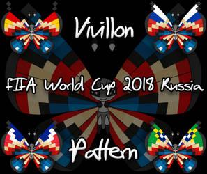 Vivillon pattern - FIFA World Cup 2018 - Russia by Starfighter-Suicune