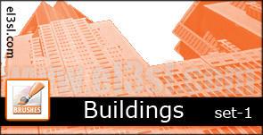 PHs - Buildings - brushs by el3sl-stock