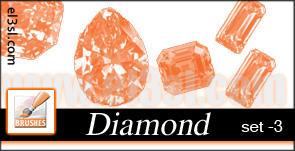 PHs  Diamond  Brushes  set 3 by el3sl-stock