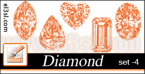 PHs  Diamond  Brushes  set 4 by el3sl-stock