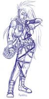 Music OC Reckless sketch by miyukiZETA
