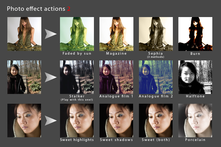 Photo effect actions 2