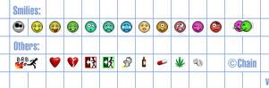 MSN emoticons v3 by chain