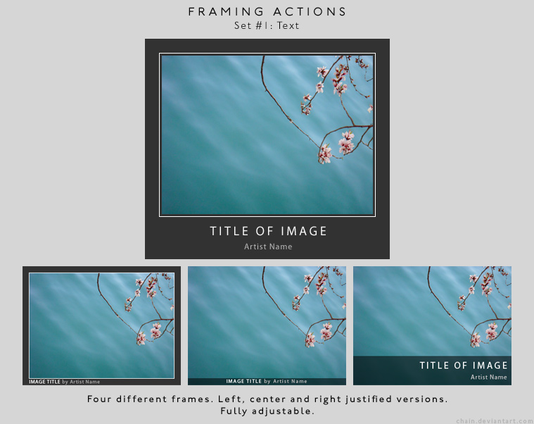 Framing actions - 1 - Text