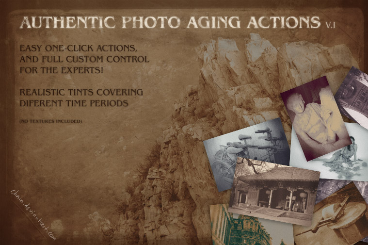 Photo aging actions