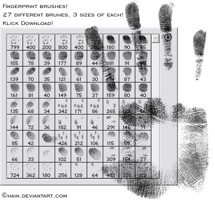 fingerprint brushes by chain